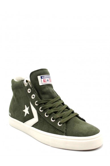 Converse Sneakers F.gomma Pro leather vulc mid utility green Uomo Verde Casual