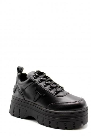 Windsor smith Sneakers   Lux white brave Donna Nero Fashion