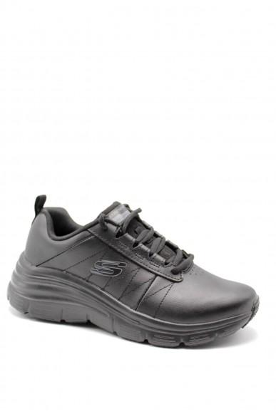 Skechers Sneakers F.gomma Fashion fit-effortless Donna Nero Sportivo
