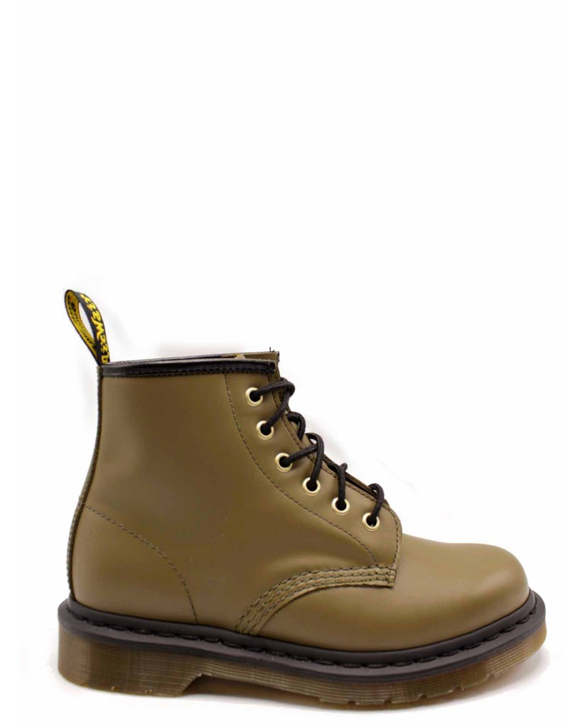 Dr. martens Stivaletti F.gomma 101 smooth dms olive - 6 eye boot Donna Verde Fashion