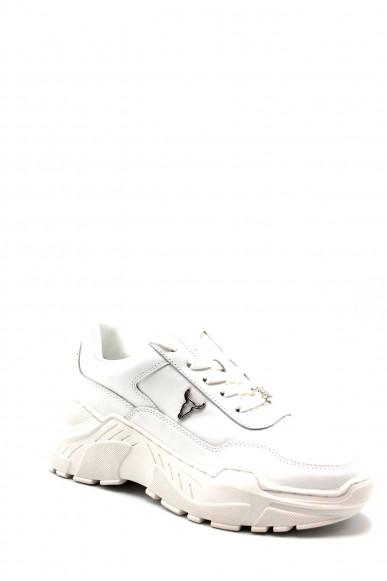 Windsor smith Sneakers   Carte nubuck charcoal Donna Bianco Fashion