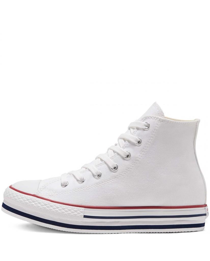 Converse Sneakers F.gomma Chuck taylor all star eva lift Bambino Bianco Fashion