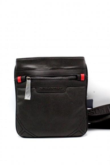 Trussardi Tracolle - Maine coated flat bag Uomo Nero