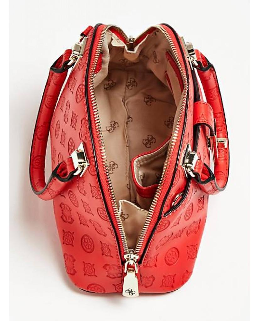 Guess Borse   Peony classic sml dome satchel Donna Rosso Fashion