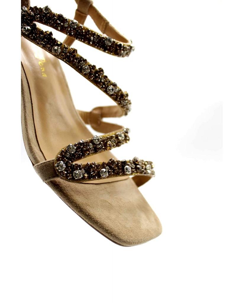 Alma en pena Sandali Donna Beige Fashion