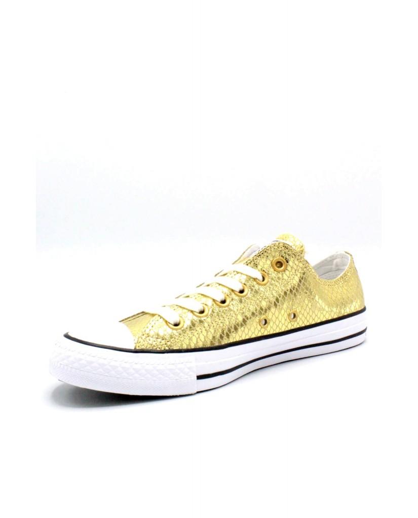 Converse Sneakers F.gomma 35/41 chuck taylors ox special Donna Oro-nero Sportivo