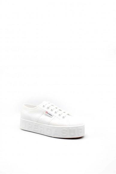 Superga Sneakers F.gomma 35/41 s71183w Donna Bianco Sportivo