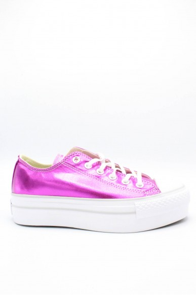 Converse Sneakers F.gomma 35/41 chuck taylors platform ox Donna Magenta Sportivo