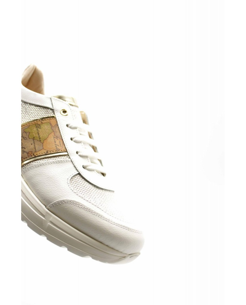 1^classe  Sneakers F.gomma N0277 Donna Bianco Fashion