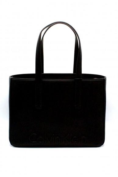 Calvin klein Borse - Edge medium k60k603986 Donna Nero Fashion