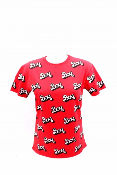 Boy london T-shirt Donna Rosso Casual