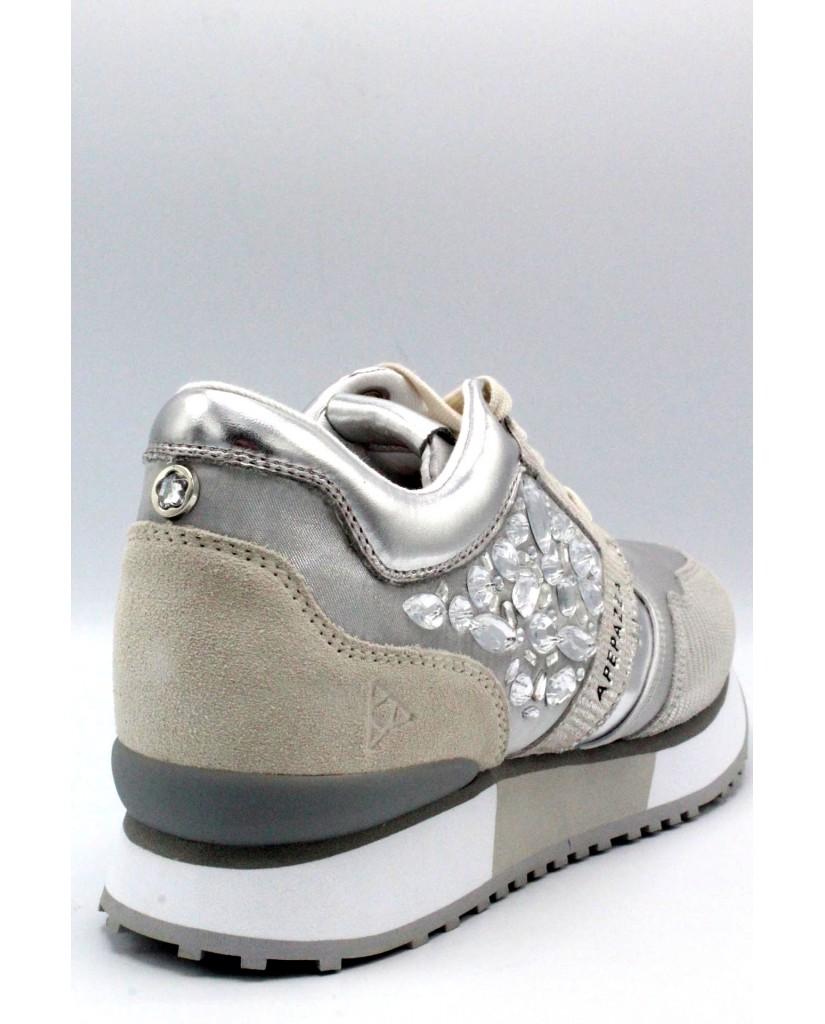 Ape pazza Sneakers F.gomma 35/41 Donna Bianco-argento Fashion