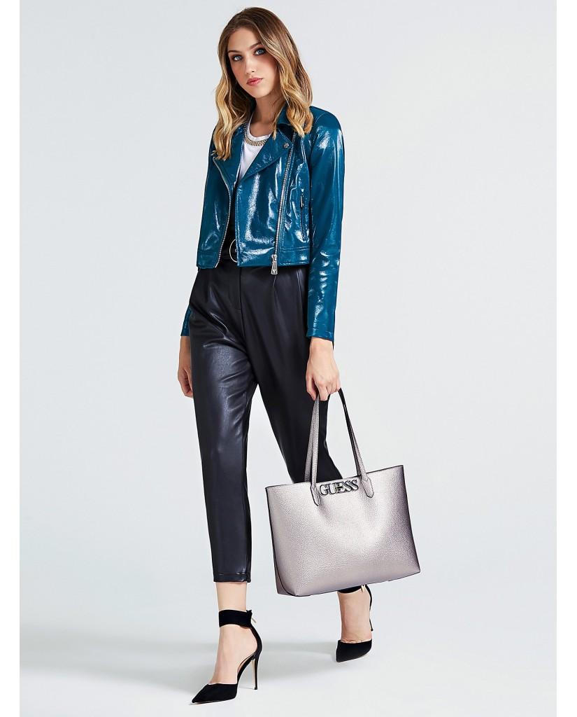 Guess Borse Uptown chic barcelona tote Donna Grigio Fashion