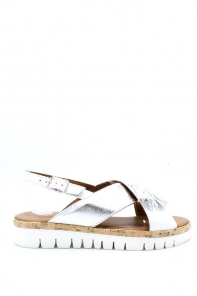 Inuovo Sandali F.gomma 35/41 Donna Bianco-argento Fashion