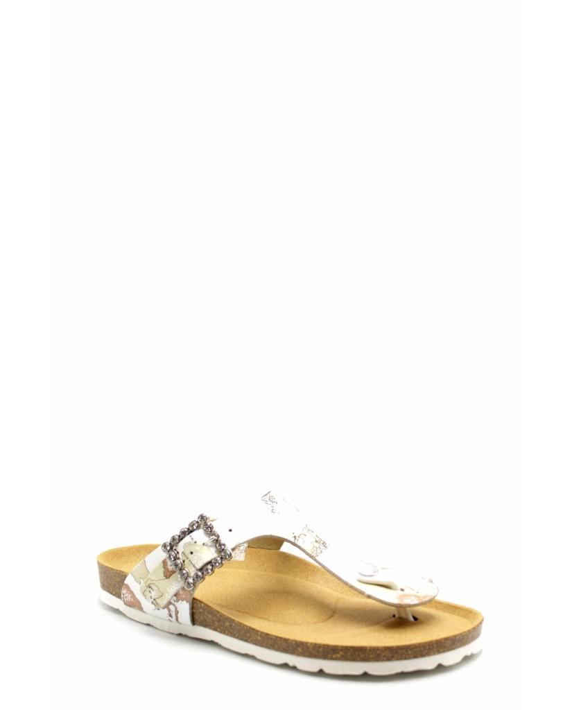 1^classe  Sandali F.gomma 35/40 Donna Bianco Fashion