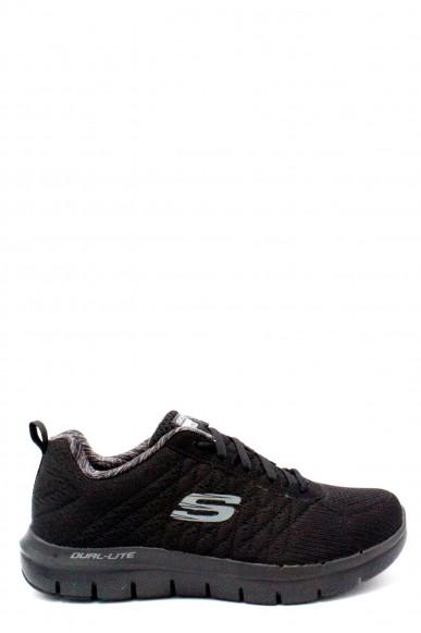 Skechers Sneakers F.gomma 40/45 Uomo Nero Sportivo