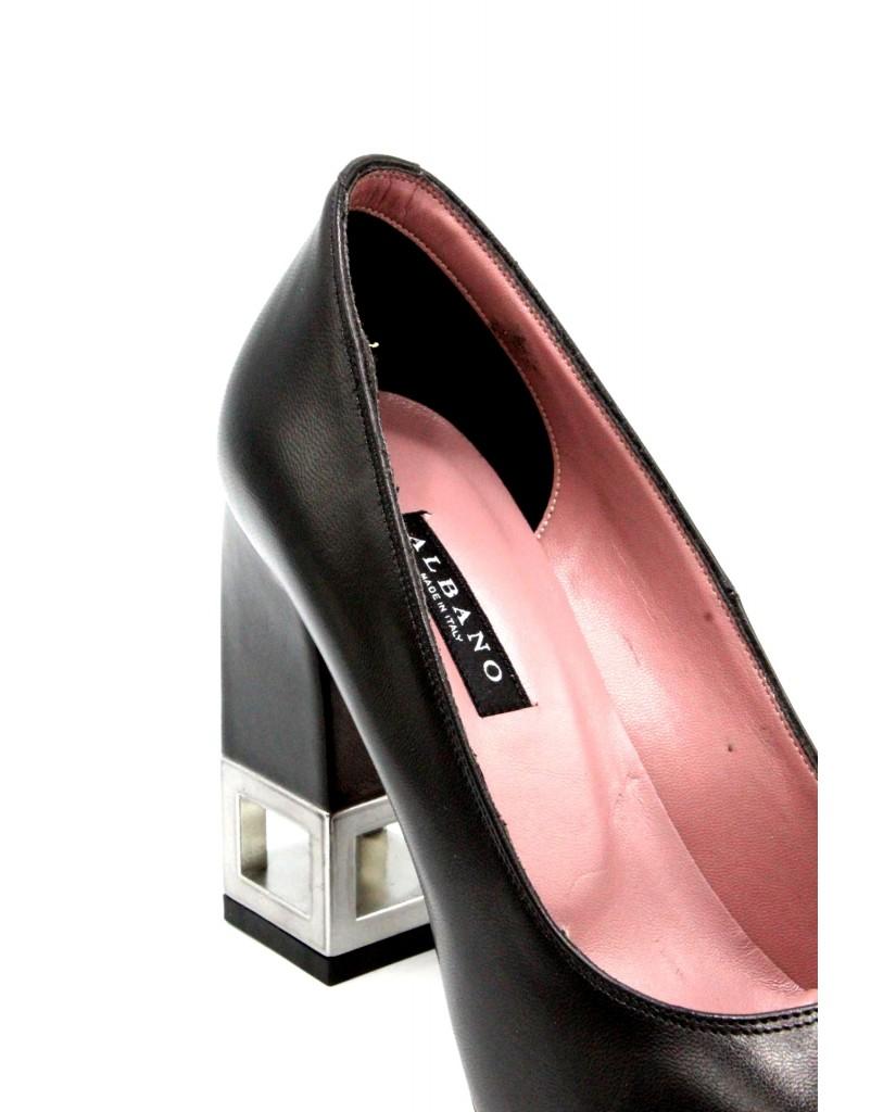 Albano Decollete F.gomma 36-40 Donna Nero Fashion