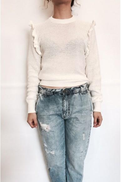 Berna Maglie S-l Donna Bianco Fashion