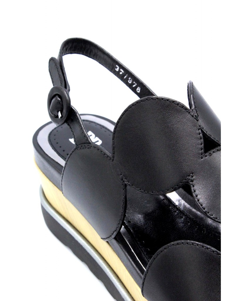 B-private Sandali F.gomma 35/41 p0503x made in italy Donna Nero Fashion