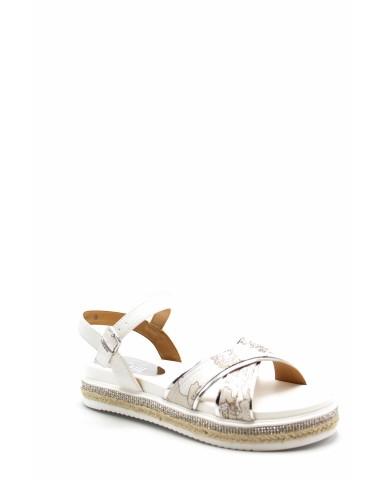 1^classe  Sandali F.gomma N0221 Donna Bianco Fashion