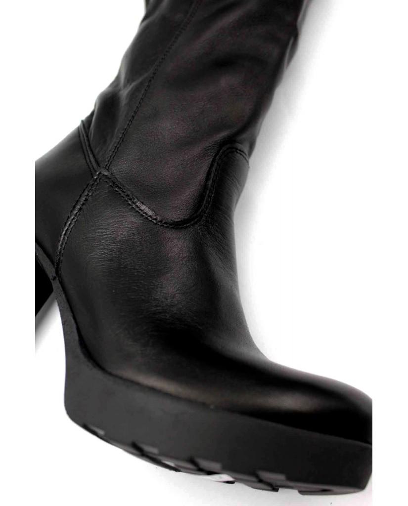 Euroshoes Stivali F.gomma Donna Nero Fashion