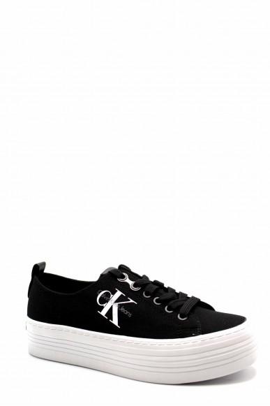Calvin klein Sneakers F.gomma Zolah canvas Donna Nero Fashion