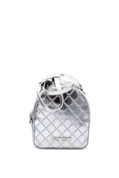 Moschino Backpacks - Jc4271pp05 zainetto trapuntato metallizzato Donna Argento Fashion