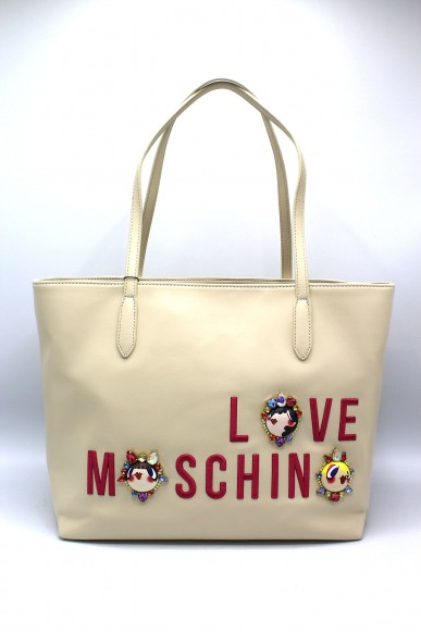 Moschino Borse Donna Avorio Fashion