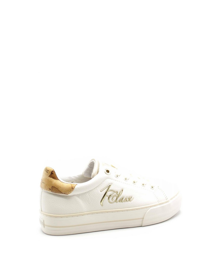 1^classe  Sneakers F.gomma N0205 Donna Bianco Fashion