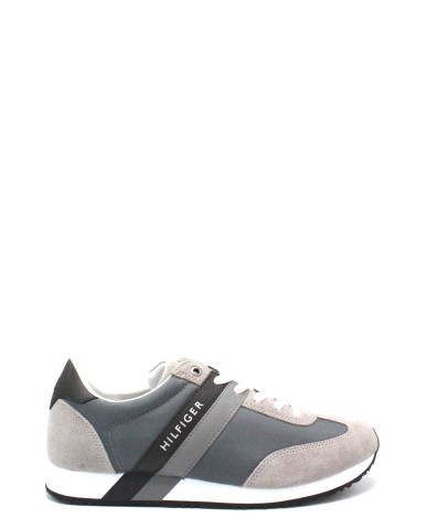 Tommy hilfiger Sneakers F.gomma 40/45 maxwell suede Uomo Grigio Fashion