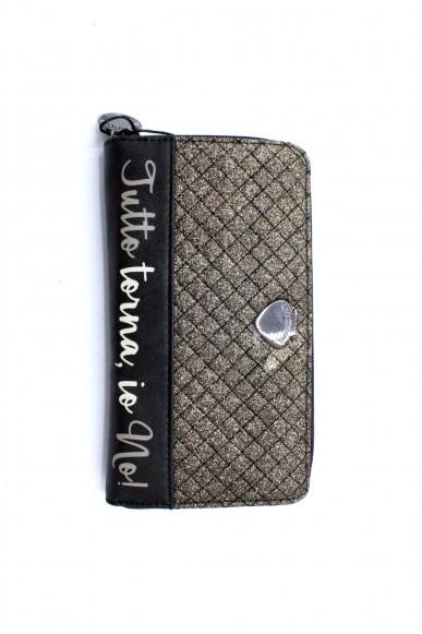 Le pandorine Portafogli - Wallet glitter tutto Donna Nero Fashion