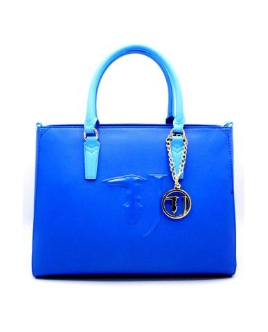 Trussardi Borse Shopping bag media Donna Azzurro Fashion