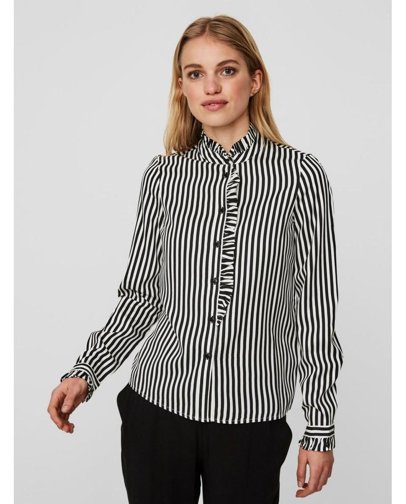 Vero moda Camicie Donna Bianco-nero Casual