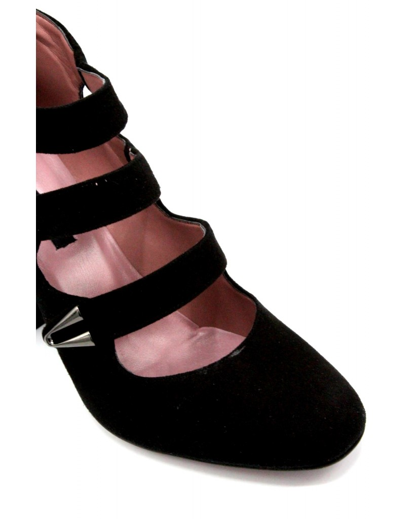 Albano Decollete F.gomma 36-40 made in italy Donna Nero Fashion