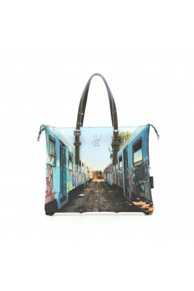Gabs Borse 38x0x29 Goldie piatta trasf. studio print Donna 331 - treni Fashion