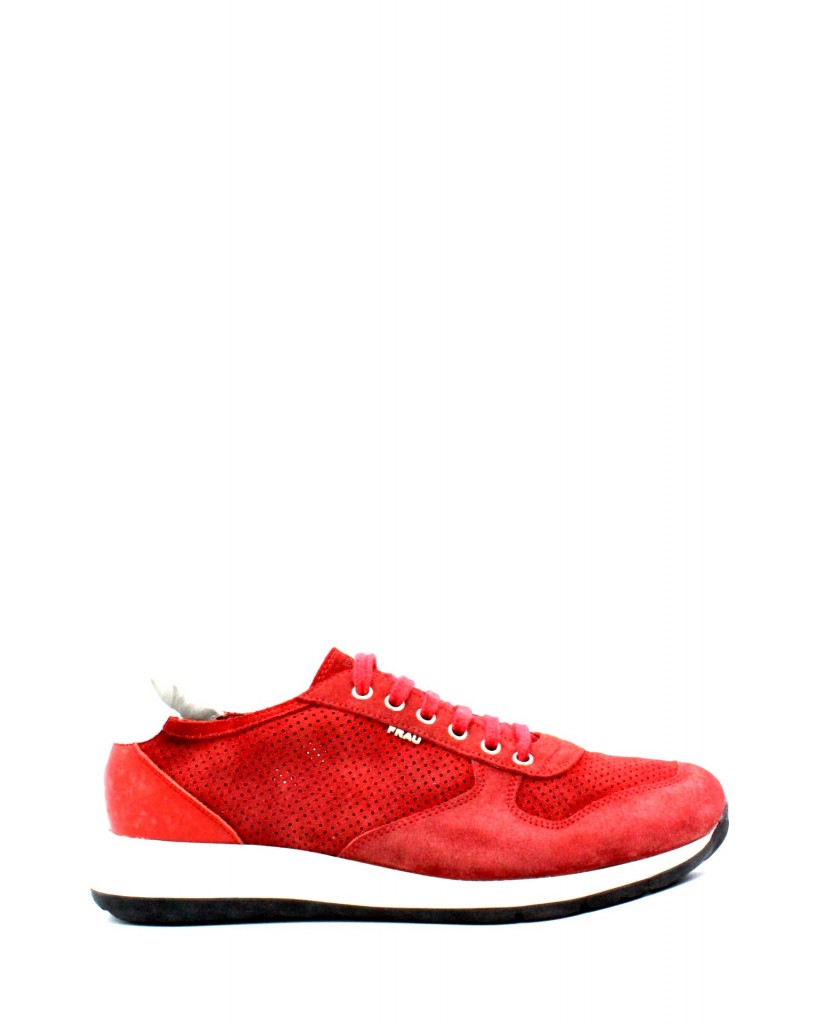 Frau Sneakers F.gomma 39-46 made in italy Uomo Rosso Fashion