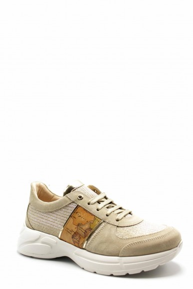 1^classe  Sneakers F.gomma N0278 Donna Beige Fashion