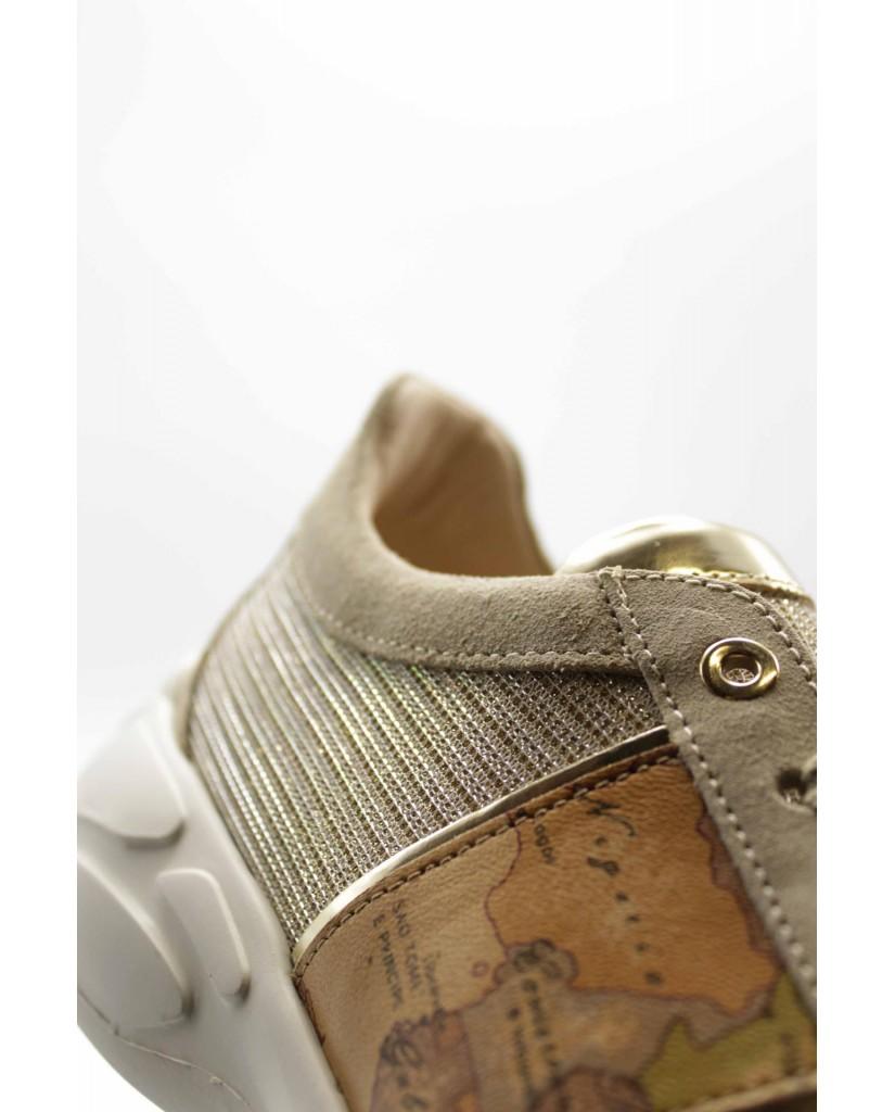 1^classe  Sneakers F.gomma N0278 Donna Beige Fashion