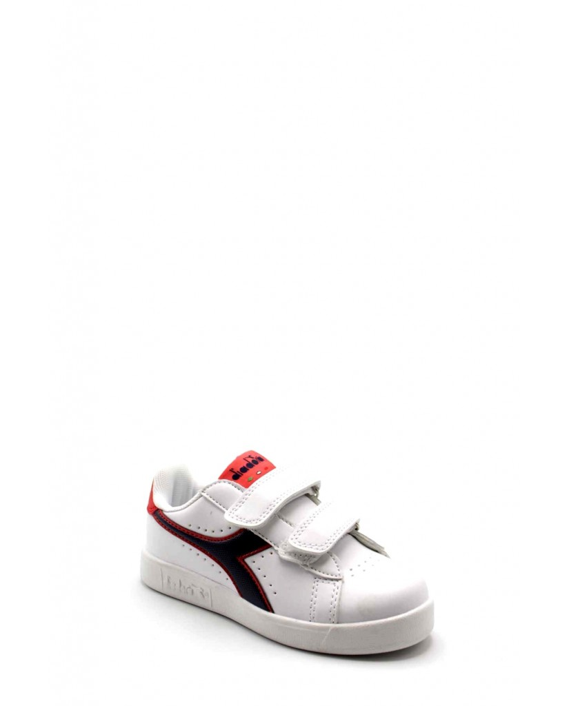 Diadora Sneakers F.gomma Game p ps Bambino Bianco-blu Sportivo