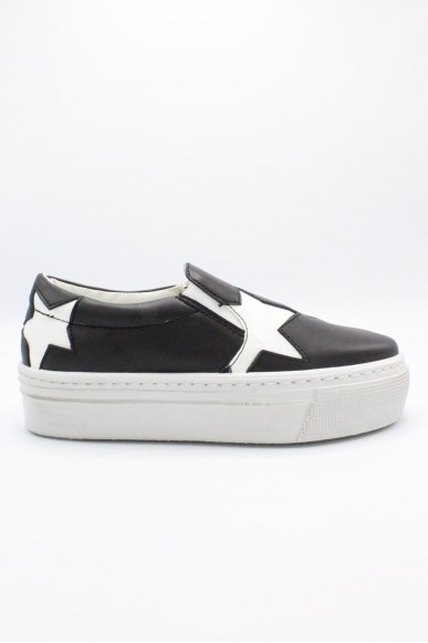 Happiness Slip-on F.gomma 36/41 Donna Nero-bianco Fashion