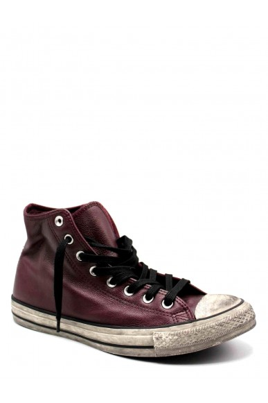 Converse Sneakers F.gomma Ctas leather ltd hi dark burgundy Uomo Bordo' Casual