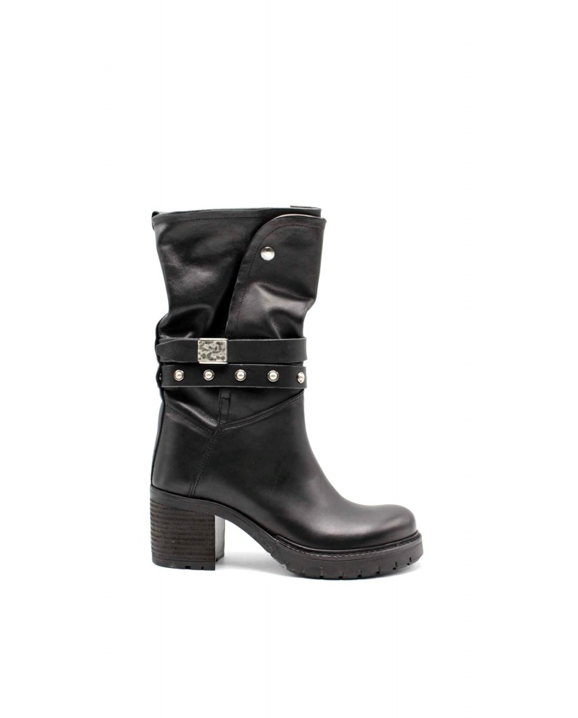 Euroshoes Stivaletti F.gomma F26 made in italy Donna Nero Fashion