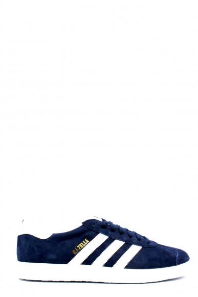 Adidas Sneakers F.gomma 39/46 gazzelle Uomo Blu-bianco Sportivo