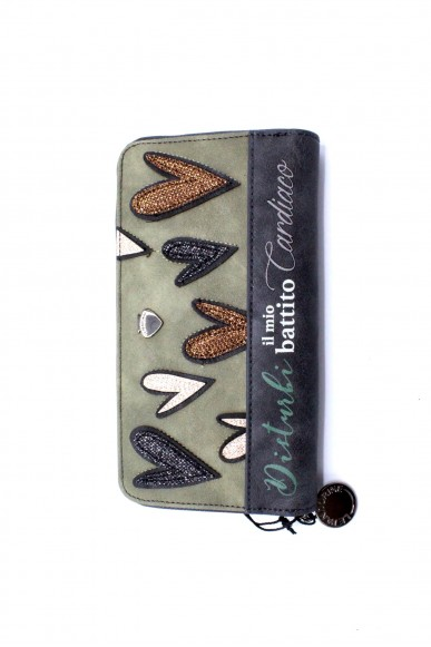 Le pandorine Portafogli - Wallet patch battito Donna Oliva Fashion