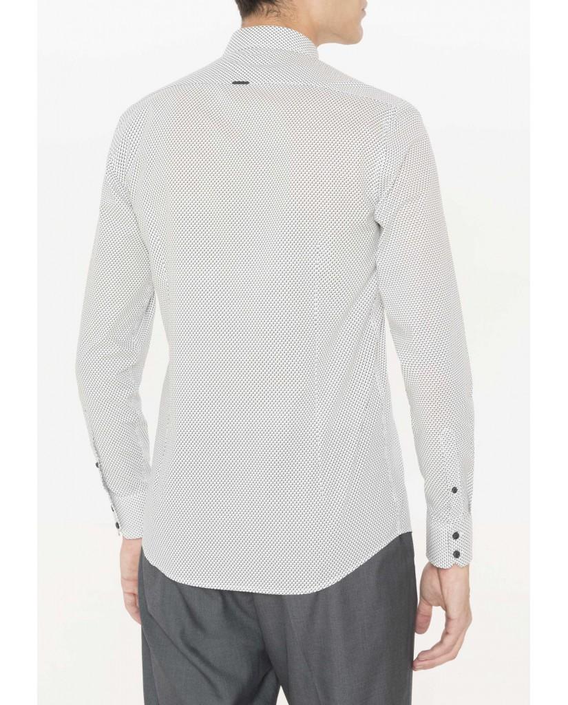 Antony morato Camicie   Camicia tessuto stampata Uomo Bianco
