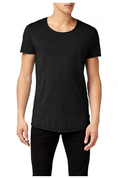 Jackejones T-shirt Jjebasic tee ss Uomo Nero Casual