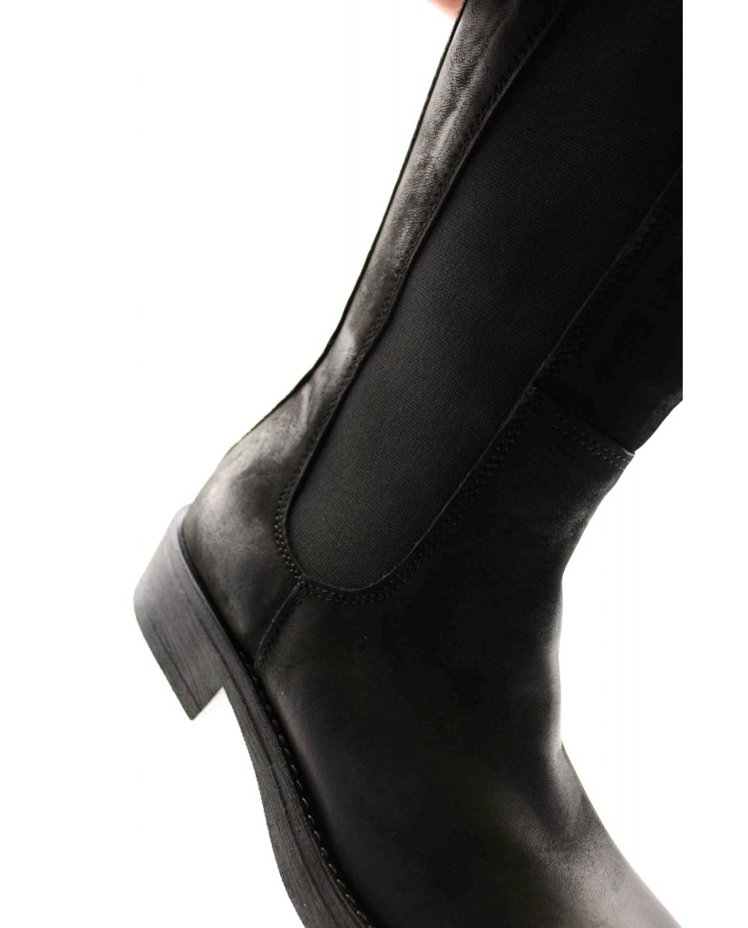 Euroshoes Stivali F.gomma F60 made in italy Donna Nero Fashion
