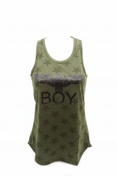 Boy london Canottiere Donna Verde militare Casual