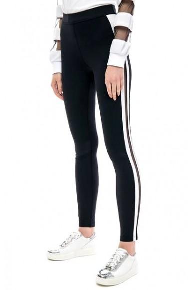 Liu.jo Pantaloni Donna Nero-bianco Casual