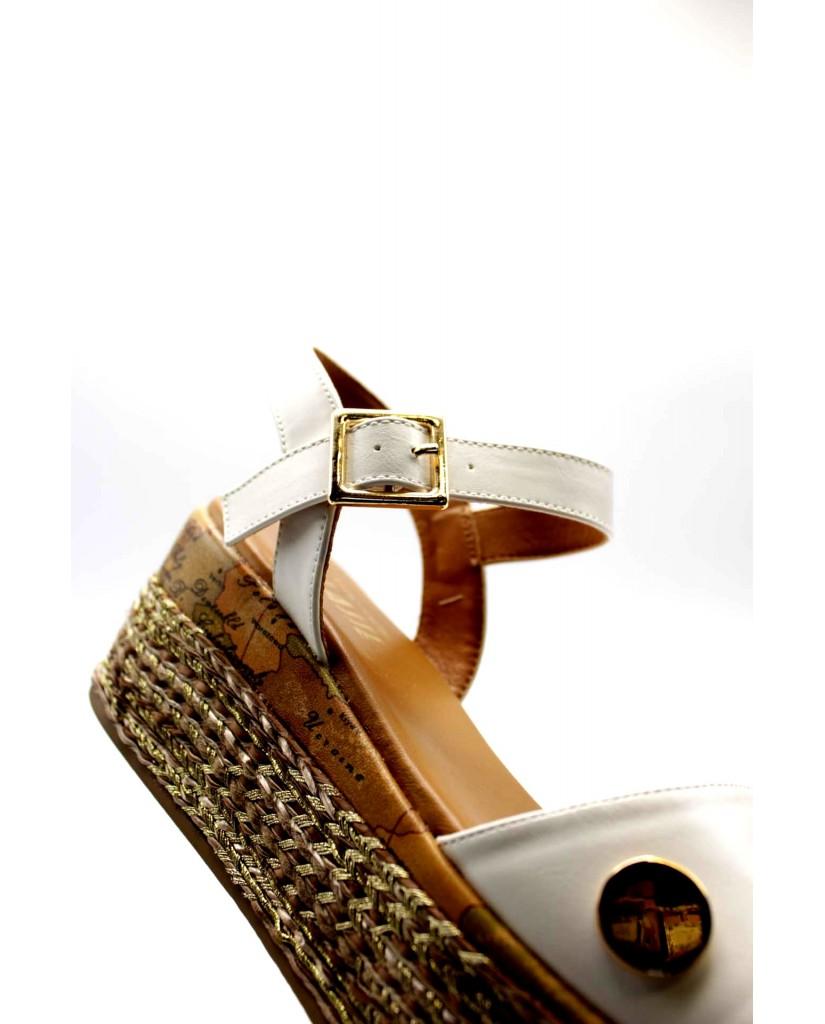 1^classe  Sandali   Sandalo zeppa h70 Donna Bianco Fashion